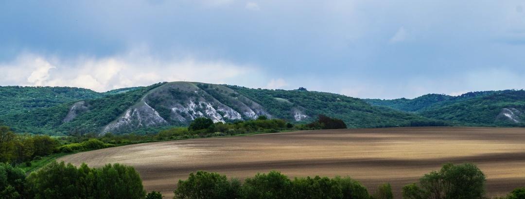 A korábban bejárt gerinc oldalának sziklabordái