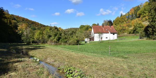 Isenburger Tal mit ehemaliger Oberer Mühle, heute ein Wohnhaus