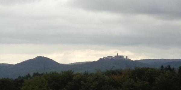 Blick auf die Wartburg vom Großen Eichelberg