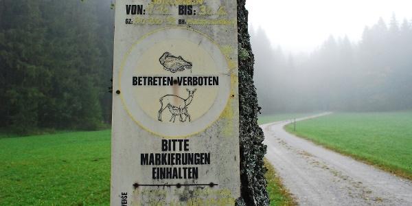 Die Kundmachung des Wildschutzgebietes im Höllgraben