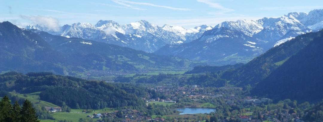 Blick auf Immenstadt und die Alpseen