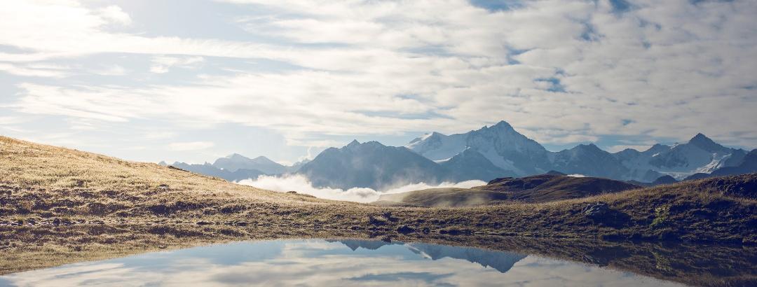 Mountain lake Le Louché above Vercorin