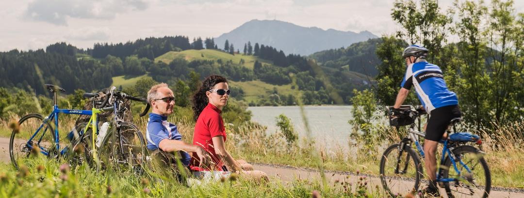 Radfahren am Alpsee