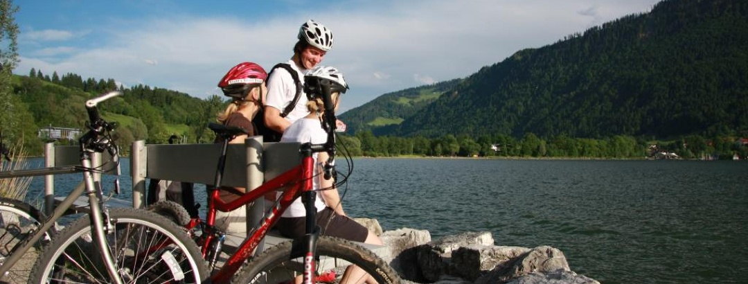 Taking a break at the Alpsee