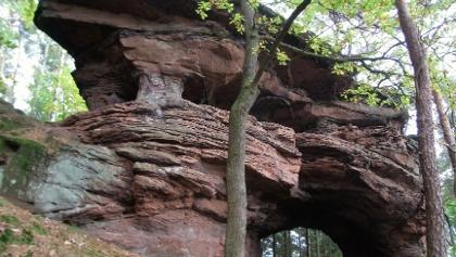 Der Felsen mit dem großen Felsentor,,, grandios