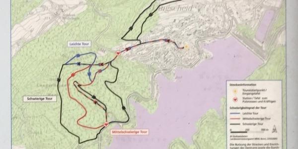 Streckenplan Nordic Walking