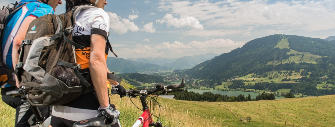Mountainbiken am Großen Alpsee