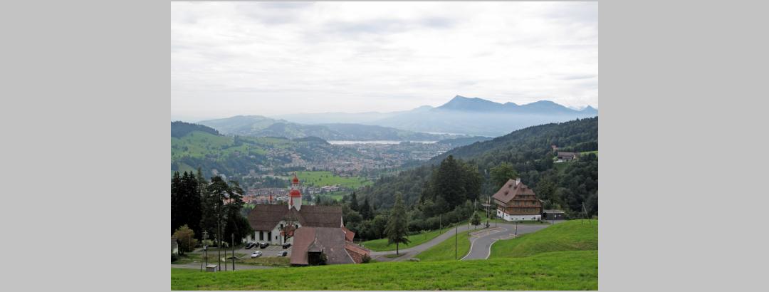 Aussicht nach Luzern und Rigi.