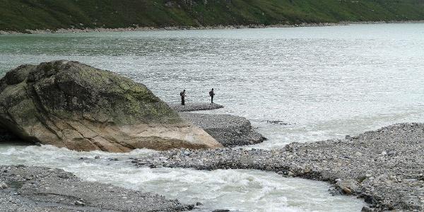 Beliebt: Fischen im Silvretta-Stausee.