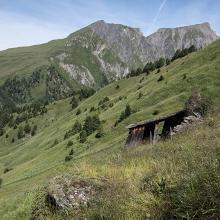 Hütte beim Aufstieg zum Peischlachtörl