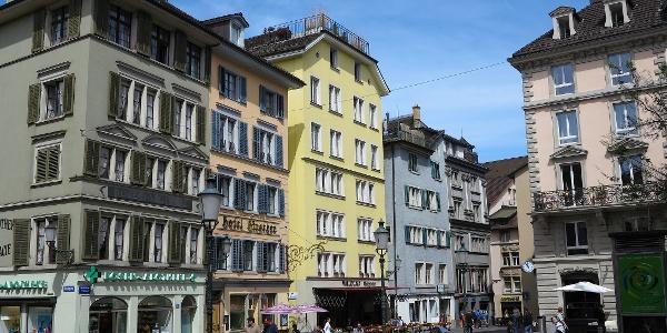 Zürich, Hirschenplatz Niederdorf.