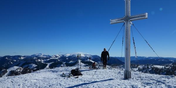 Gipfelkreuz am Toniongipfel