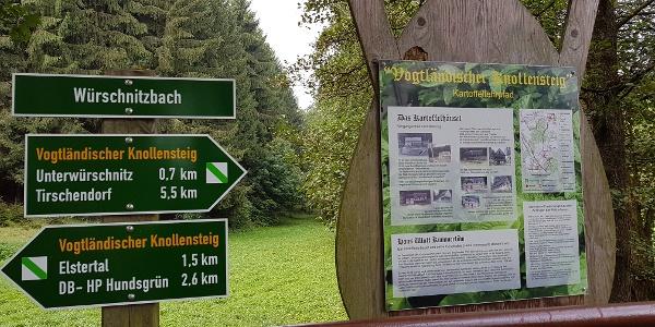 Wanderwege und Infotafeln am Würschnitzbach