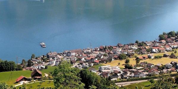 Blick vom Ober Sassi über Beckenried, Nidwalden
