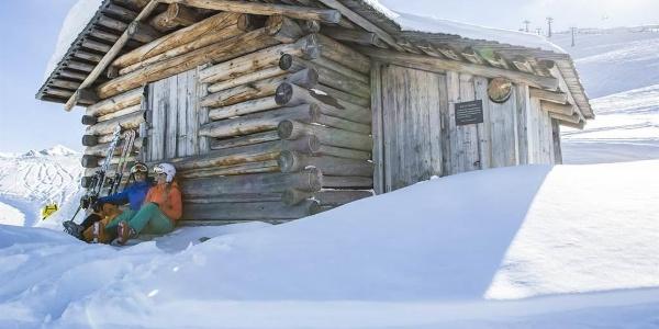 Rast beim Skifahren