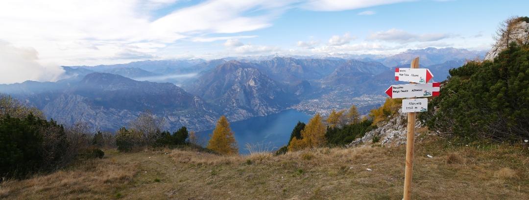 View of Lake Garda from the Sentiero della Pace