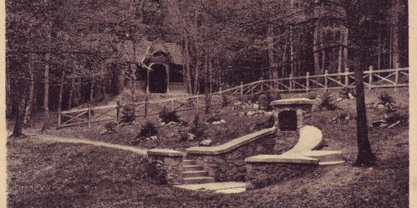 Az Őz-kút régen (korabeli képeslap)