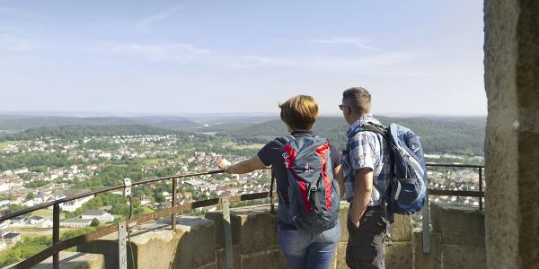 Blick vom Kaiser-Karls-Turm auf Bad Driburg