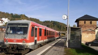 Ausstieg am Bahnhof Rockenhausen