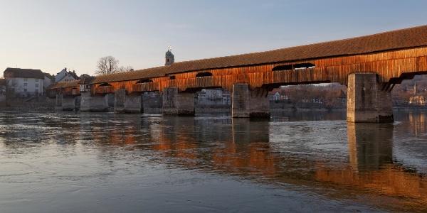 Längste gedeckte Holzbrücke Europas