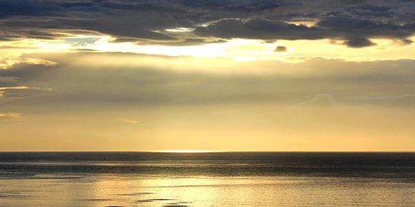 Sunrise over the Sea near Burntisland