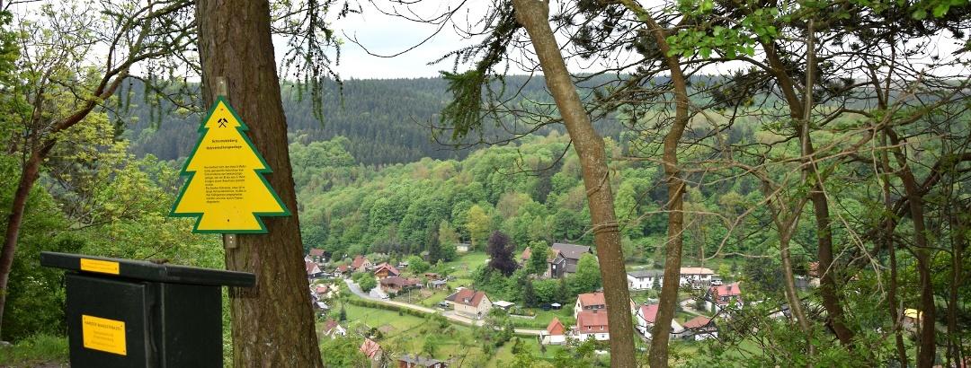 Schornsteinberg mit Blick auf den Höhlenort Rübeland