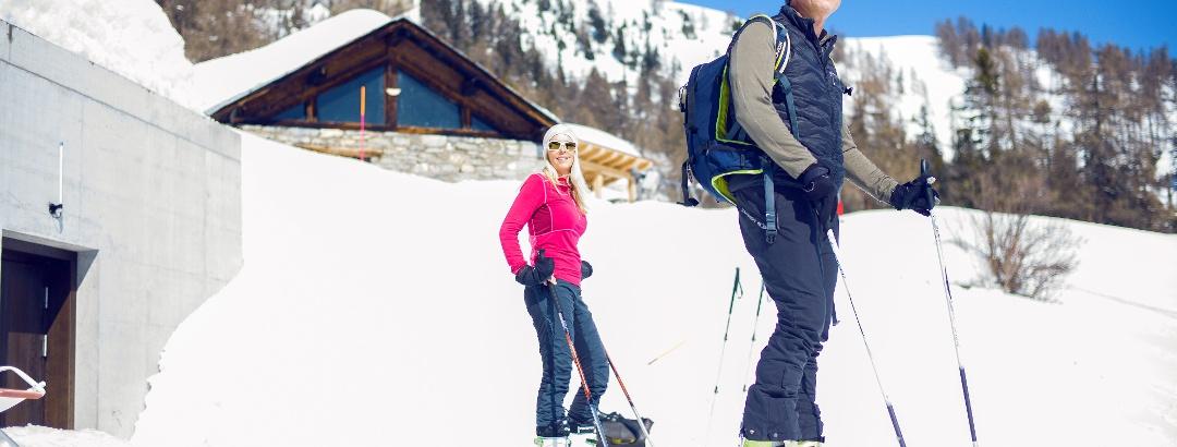 Schneeschuhtour von Aminona zur Cave du Scex
