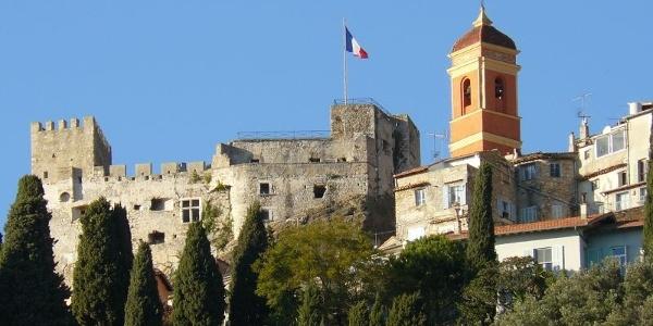 Castle in the center of Roquebrune