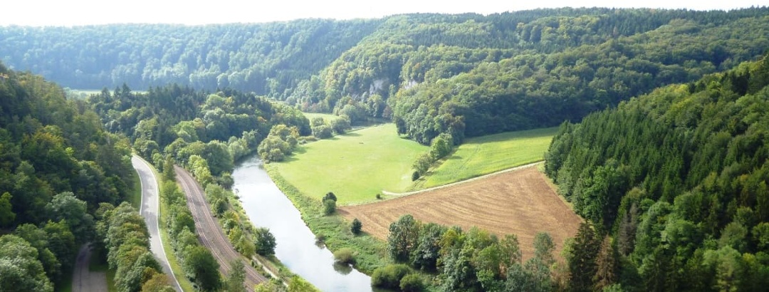 Aussicht auf das Donautal