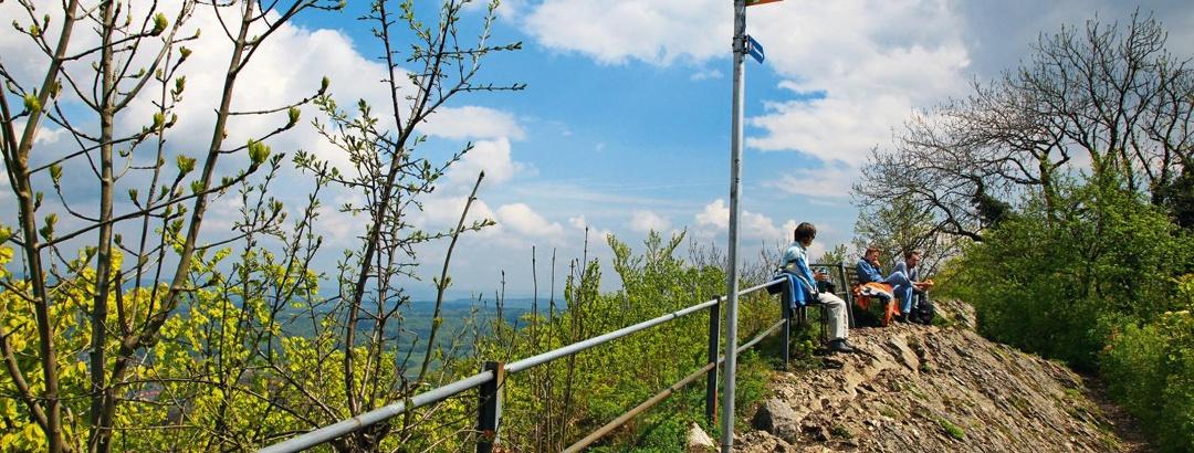 Auf dem Burghorn, dem höchsten Punkt der Lägern.