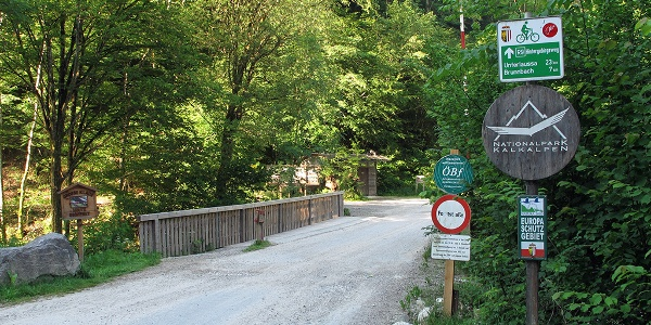 Brücke in Anzenbach, Reichraminger Hintergebirge