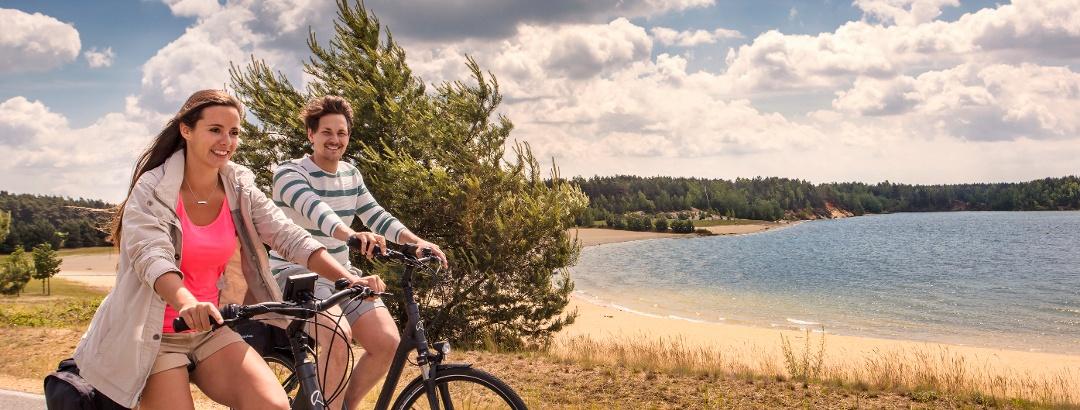 Radfahrer im Lausitzer Seenland