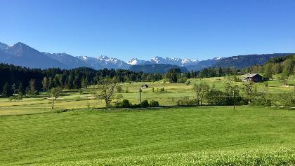 Blick in die Berge bei Bolsterlang