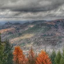 Blick vom Martinsturm i. R. Trifels