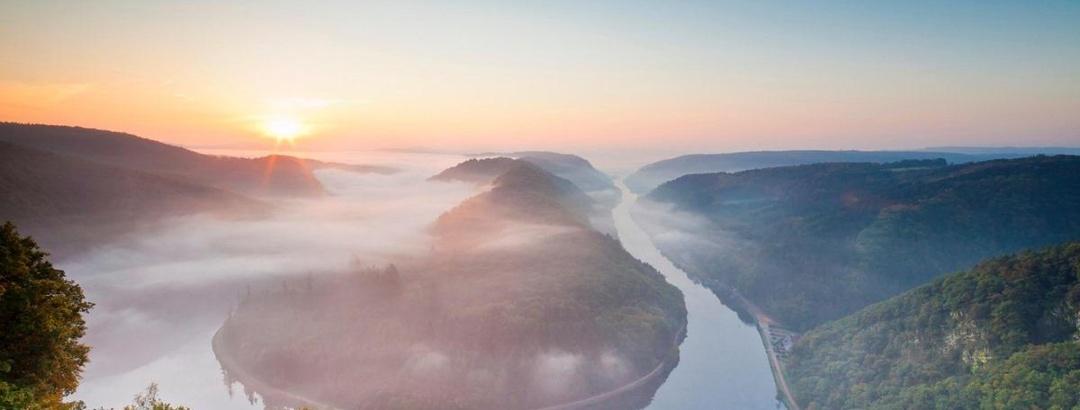 Die Saarschleife im Morgenlicht