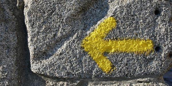 freccia gialla del camino