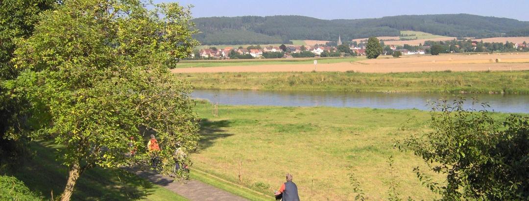 Weser-Radweg bei Bodenfelde