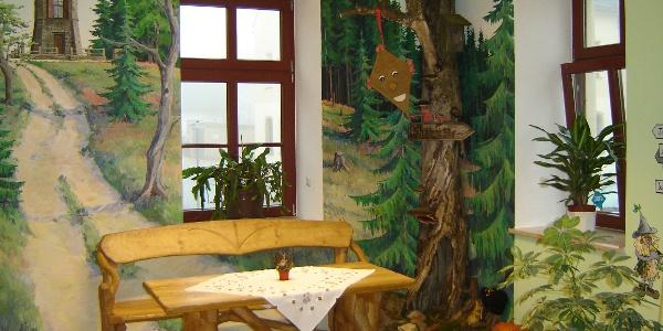 Sitzgruppe im Tourist-Service-Center Eibenstock