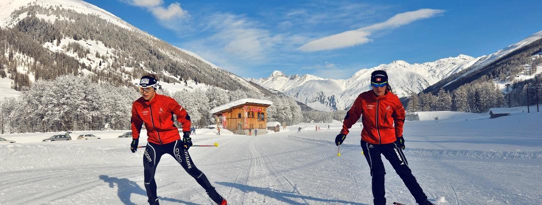 Ski de fond sur la piste de compétition FIS à Ulrichen