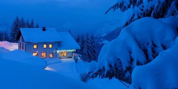 Berggasthof Grabs im Winter