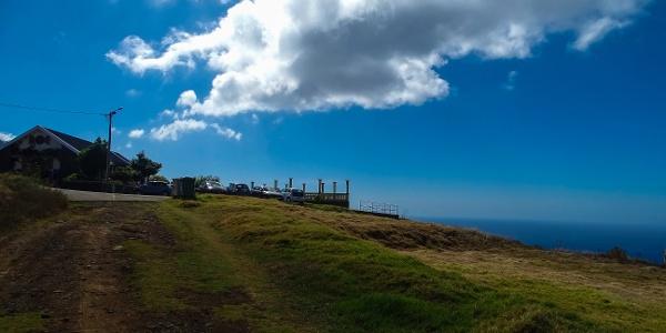 Parking area near Ponta do Pargo