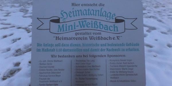 Infotafel Mini-Weißbach