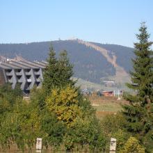 Blick zum Fichtelberg