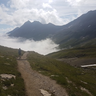 On the descent from Rifugio Elisabetta