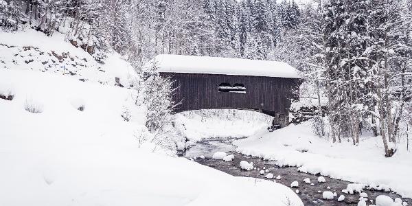 Leidtobelbrücke unterhalb von Hirschegg