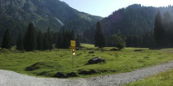Start Hüttenaufstieg
