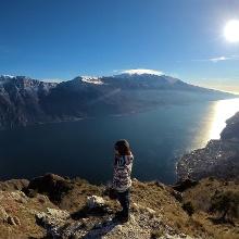Der verschneite Monte Baldo - keine Seltenheit im Januar