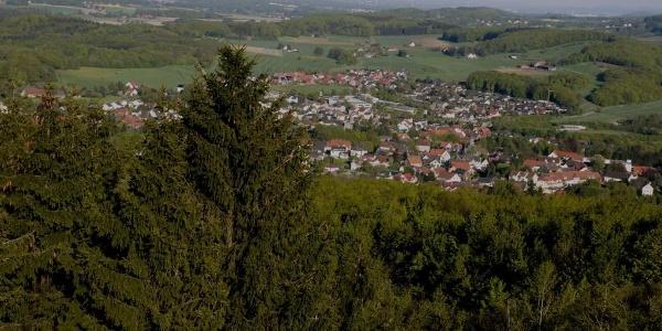 Blick vom Luisenturmhütte Borgholzhausen