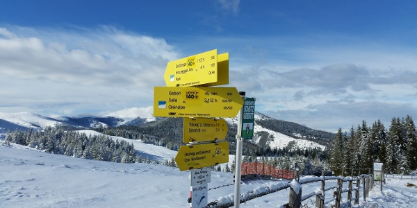 Kurze Schneeschuhrunde auf der Stubalm-Richtung Gaberl