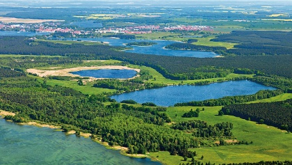 Luftaufnahme der Mecklenburgischen Seenplatte